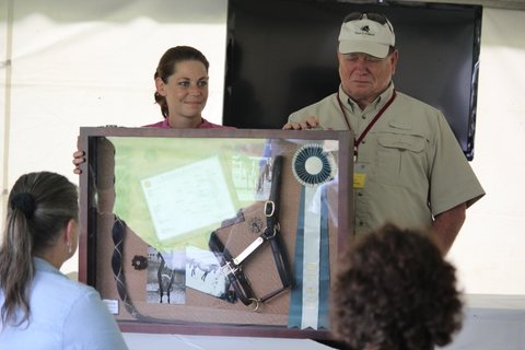 Janette & Danos with the Memorial Shadow Box